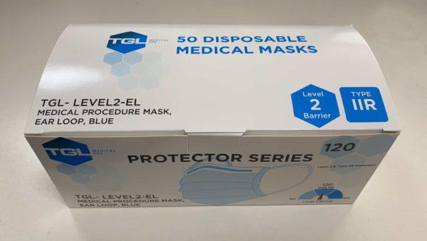 50 disposable face medical masks
